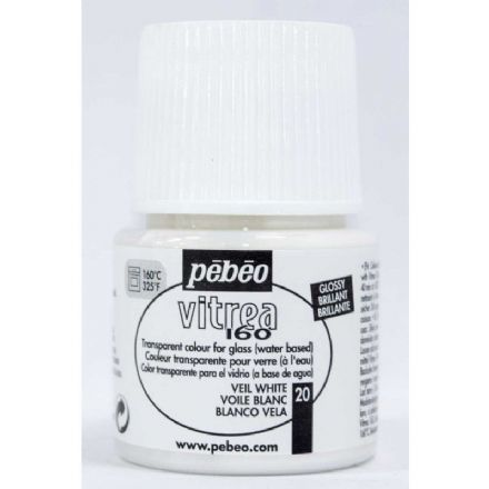 Glass Paint Pebeo Vitrail 160 - Veil White